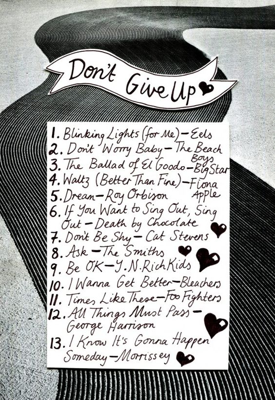 Friday Playlist: Don't Give Up Illustration by Minna.