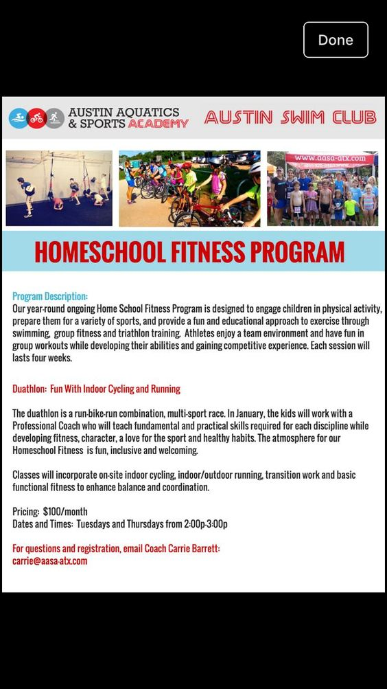 Homeschooling Sports Program