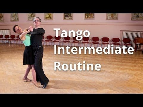 Tango Intermediate Dance Routine And Figures Youtube Ballroom Dance Lessons Dance Routines Dance Steps