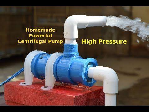 High Pressure Centrifugal Pump How To Make Powerful Water Pump Homemade Powerful Pump Youtube Diy Water Pump Centrifugal Pump Water Pressure Pump