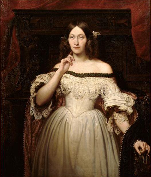 Portrait of Julie Mottez | Victor Mottez (1834):