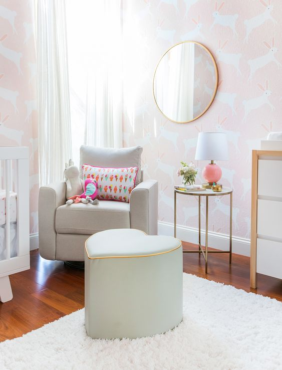 Pink Bunny Nursery designed by Emily Henderson: