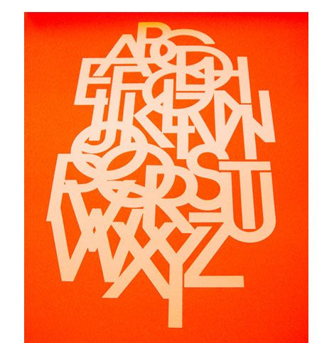 Another Example of Lubalins work with Typography. I will try to emulate his use of negative color space to highlight type.