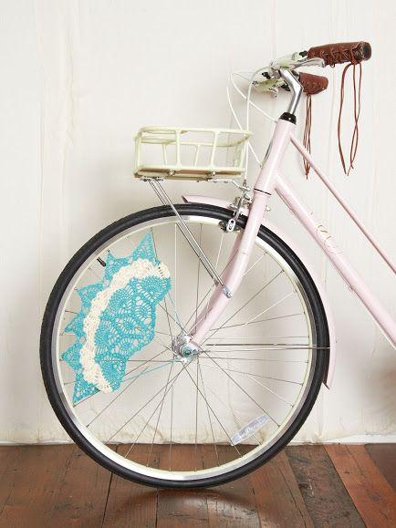 Outstanding Crochet: Crochet Skirt Bike Guards from Free People.