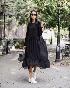 Доброго дня ☁️ ______________________________________ ⠀ ⠀ ⠀•New: Летящее платье с воланами. В комплекте комбинация. Стоимость 5500₽. Доступно также в цвете ванили, стоимость 6500₽