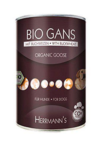 Aus der Kategorie Probiotika  gibt es, zum Preis von EUR 14,05  4er-SET Bio Hundefutter Gans Menu 1 mit Buchweizen, Apfel, Kokosmilch 400g Herrmanns<br>Hund - Bio-Kontrollstelle des Herstellers - DE-Öko-003 - Haltbarkeit nach Öffnen - Nach dem Öffnen 2-3 Tage im Kühlschrank haltbar. - Hersteller - Herrmann GmbH - Lagerung - Kühl und Trocken lagern - Futterdaten - Zusammensetzung - 50% Gans (Brustfleisch, Hälse), Äpfel , Buchweizen , Kokoksmilch , Leinöl aus kontrolliert biologischem Anbau…