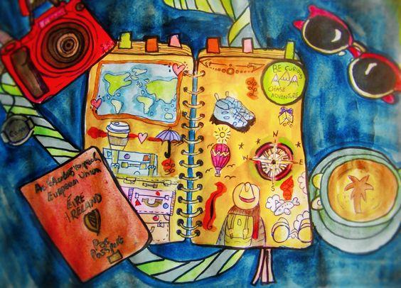 #travel #wanderlust #illustration #traveljournal #travelscrapbook #adventure