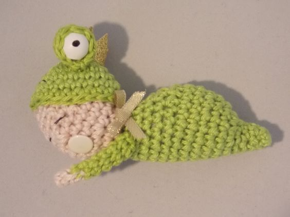 DIY  Häkeln Winzlinge  Frosch  Tutorial Gratisanleitung