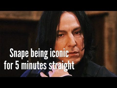 Snape Being Iconic For 5 Minutes Straight Youtube Snape Youtube Icon