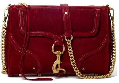 Rebecca Minkoff — Morning After Clutch (MAC) in Bombe Blood Red