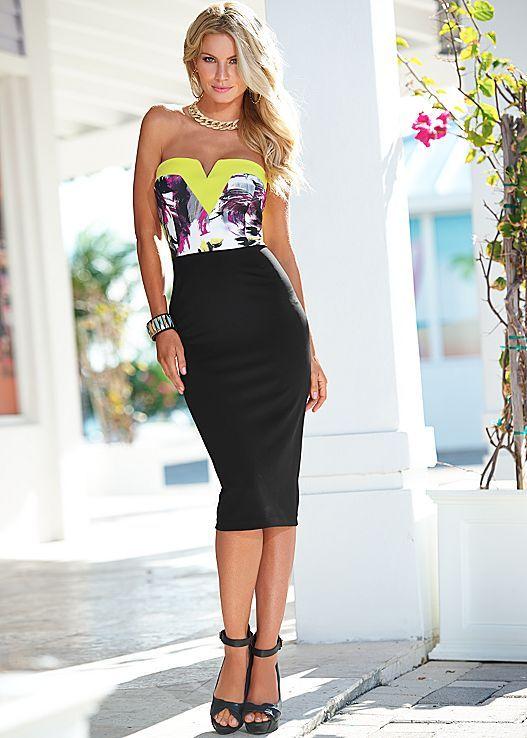 Black with neon dresses
