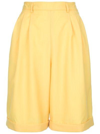 винтажные зимние шорты с высокой талией