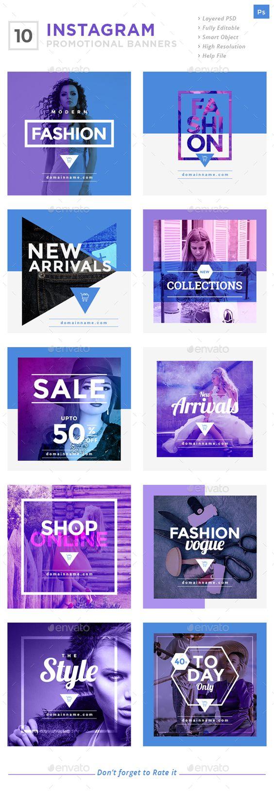 Instagram Promotional Banners - Social Media Web Elements