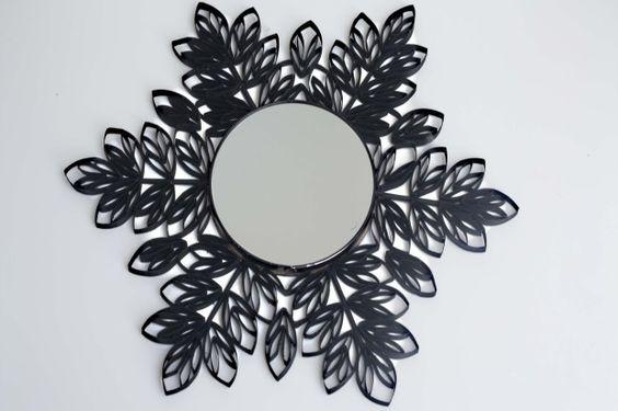 C mo enmarcar un espejo con tubos de cart n de papel - Espejo de papel ...