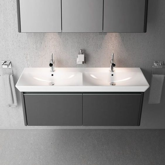 for vitra t4 130cm vanity unit double basin