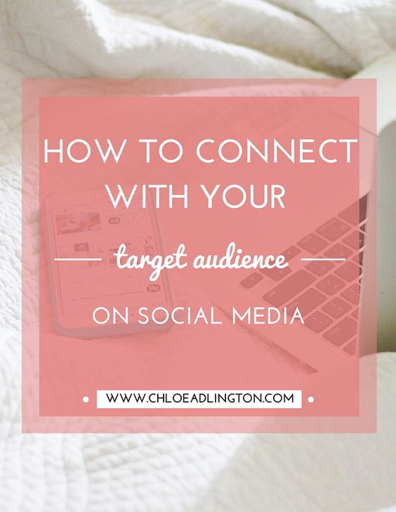 How to find and connect with your target audience on social media - www.chloeadlington.com/?utm_content=bufferdce17&utm_medium=social&utm_source=pinterest.com&utm_campaign=buffer