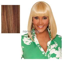 Vivica Fox Weave Cap Collection Tamara - Color P27/30/33 - Synthetic (Curling Iron Safe) Half Wig