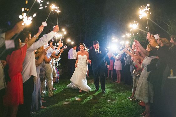 Sparkler Exit One&Only Ocean Club Wedding on Paradise Island in the Bahamas (near Atlantis) Planner: Tracie Domino Events Photographer: Sam Hurd Photography