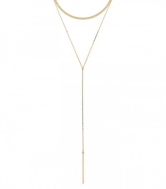 Forever 21 Bar Pendant Necklace Set