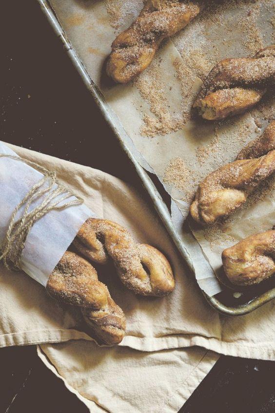 Cinnamon Twist Doughnuts at Chasing Delicious