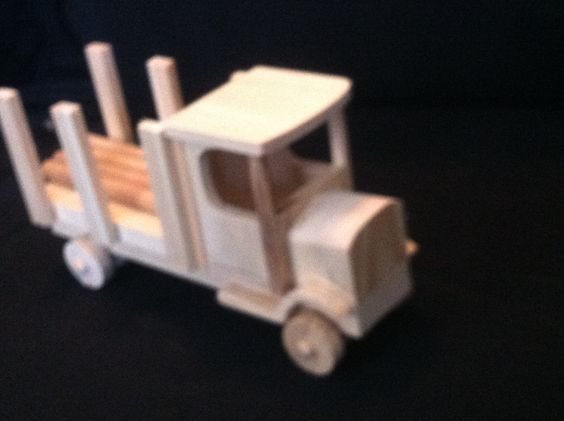 Handcrafted Wooden Toy Log Truck