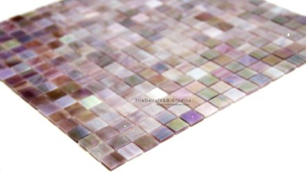 Purple Glass Tile for Bathrooms | Iridescent Purple Opaque Glass Mosaic – SALE