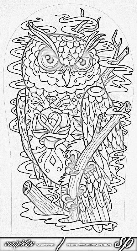 MATIN LUMINEUX Chouette des Chouettes  Coloring Pages
