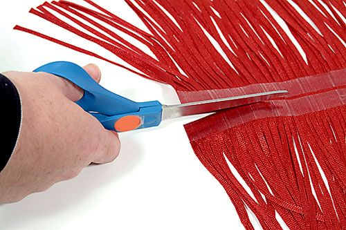 You can make your own fringes in the colours , and lengths you want. How to make a fringe trim