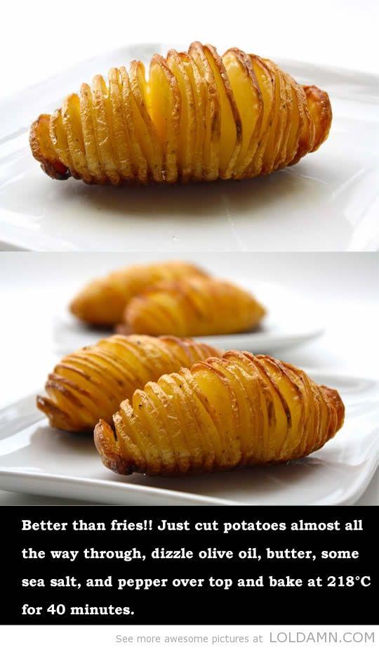 Mother's day recipes: The simple baked potato - je kunt er natuurlijk ook kaas of andere lekkere dingen tussen stoppen...