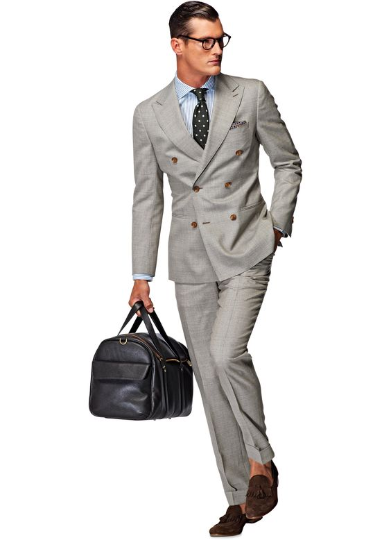 Double Breasted Light Grey Wool Suit | Suits | Pinterest | Wool