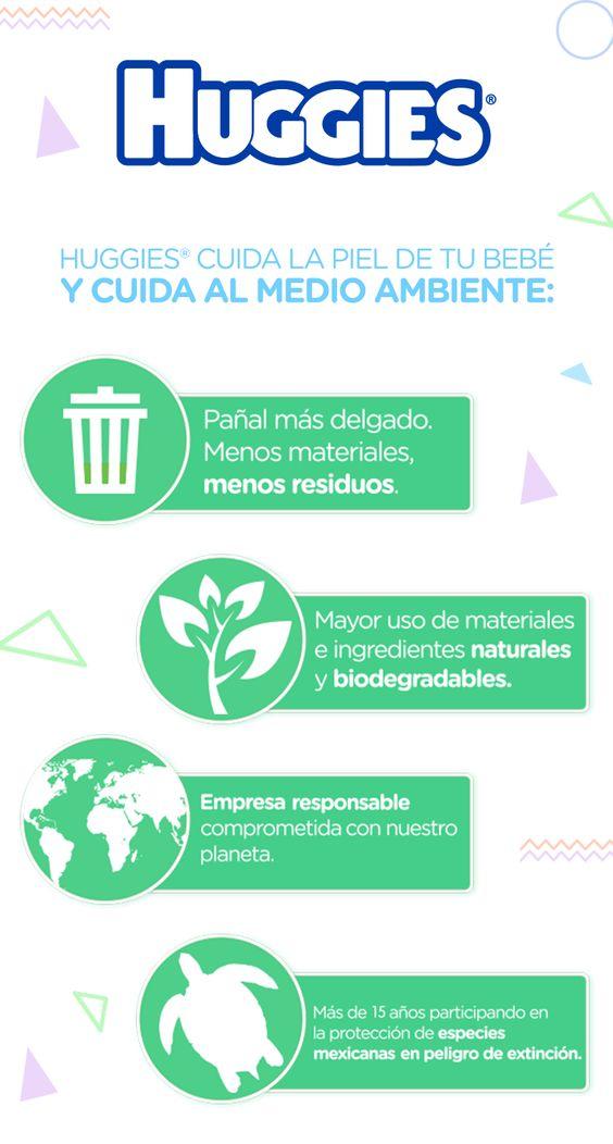 En Huggies® nos preocupamos por tu bebé y por el medio ambiente, por eso usamos materiales naturales y biodegradables en la elaboración de nuestros pañales.