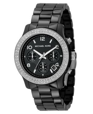 Chronograph Stainless Steel and Black Ceramic Bracelet 38mm  I want this!