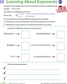 math worksheet : exponents rules  worksheets learning and articles : 5th Grade Math Exponents Worksheets