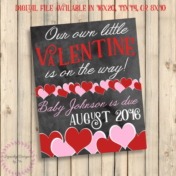 Valentines Day Baby On The Way Announcement Valentine Baby On – Baby on the Way Announcement
