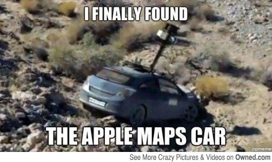 Found the Apple Maps car... -