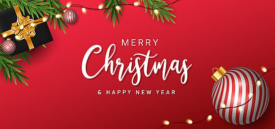 Christmas Background With Red Striped Balls And Realistic Gift Boxes Merry Christmas New Year Greeting Card Template Realistic Gift New Year Greeting Cards Happy Christmas Greetings