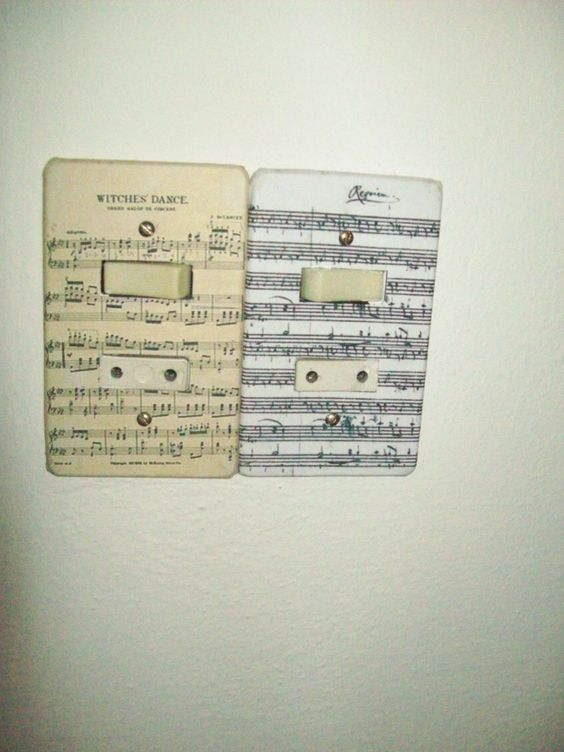 renová las llaves de luz de tu casa con fotocopias de partituras si te apasiona la música.