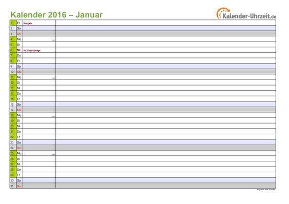 kalender 2016 in gr n a4 querformat 12 seitiger monatskalender 2016. Black Bedroom Furniture Sets. Home Design Ideas