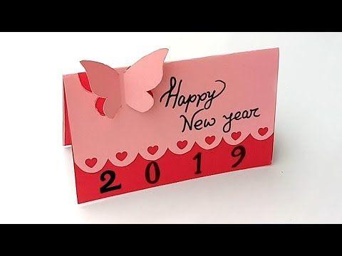 Beautiful Handmade Happy New Year 2019 Card Idea Diy Greeting