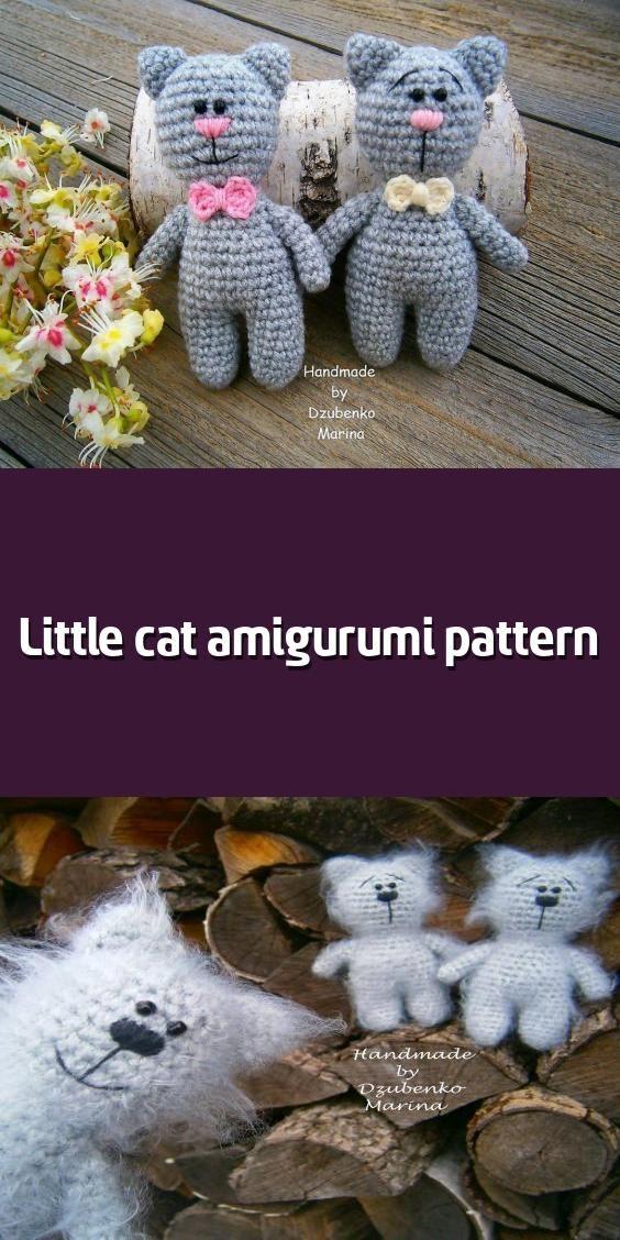 Free crochet pattern: Small long-legged amigurumi cat | 1128x564