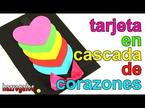 Crea Tarjeta Cascada De Corazones Waterfall Card Youtube