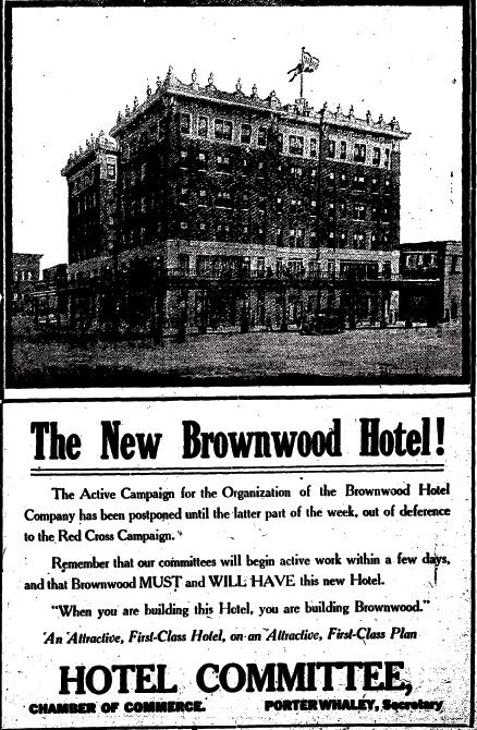 Gotta Love Those Old School Ads Brownwood Texas Pinterest And Hotel Motel