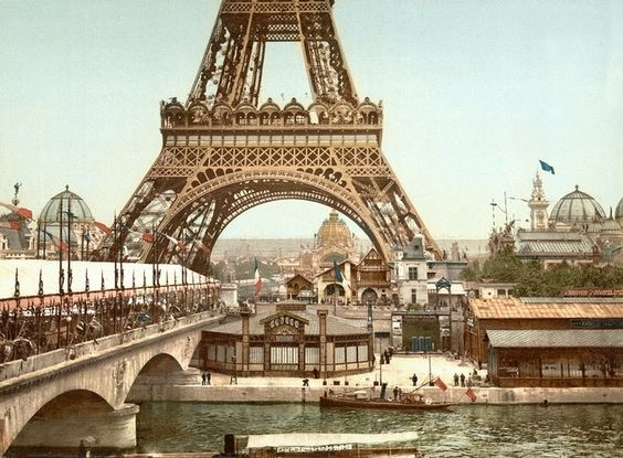Eiffel Tower, Paris, France c1900 Pictochrome by WorldWide Archive, San Francisco