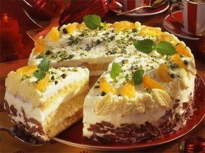 Weiße Orangen-Schokoladen-Torte