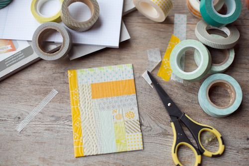 a peek at a Washi Workshop project in progress by Tina Aszmus - registration closes 5.31!
