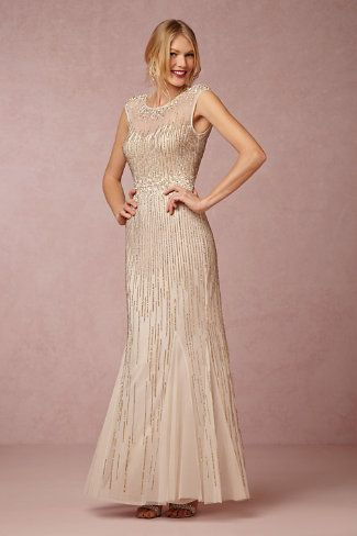 Gold beaded Mother of the Bride Dress