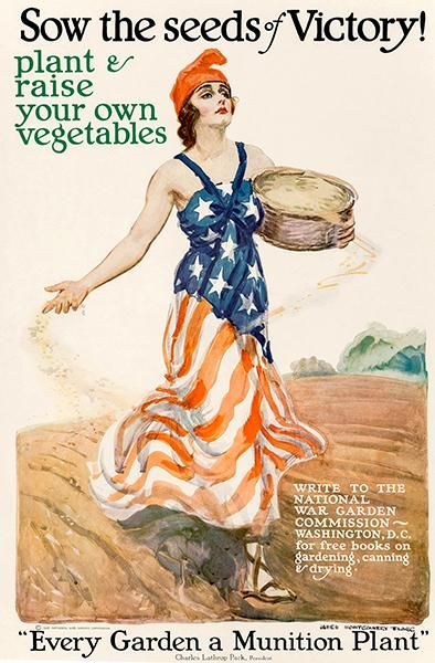 Cartaz de propaganda de Guerra: Seeds of victory.