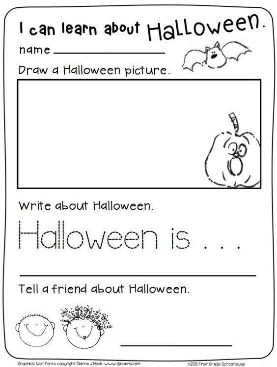 preschool halloween writing activities
