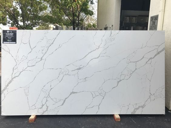 Calacatta Laza Natural Quartz Slabs By Msi For Kitchen