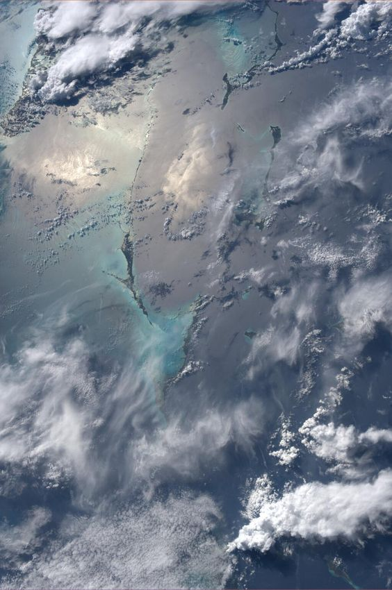 Astronaut Karen Nyberg tweeted this beautiful photo of the Bahamas, taken from the International Space Station. Tweet released June 16, 2013. - http://www.space.com/21731-space-photos-astronaut-karen-nyberg-images.html